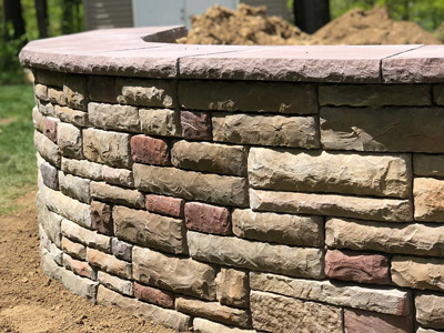 Stonefaced Wall